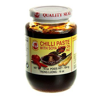 Chilli pasta se sojovým olejem, Nam Prik Pao, Thajsko značka Hahn, 454 g