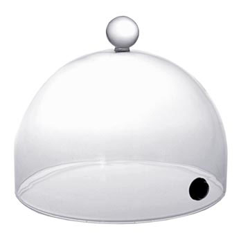 "Zvonek z kouřového Rubi s ventilem, 19 cm, na ""super"" Aladin Profi, ks"