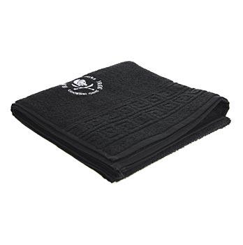JRCG ručník, malý, černý s bílým logem, ks