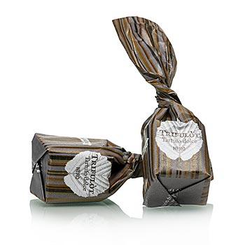 Mini lanýžové pralinky - Dolce d'Alba, tmavá čokoláda, á 7g černý papír, 2,5 kg