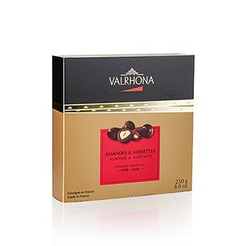 Valrhona Equinoxe kuličky - mandle/lískové ořechy v hořké čokoládě, 250 g