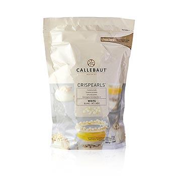 Crispearls, křupavé kuličky s jádrem ze sušenek, bílá čokoláda, 49% kakaa, Callebaut, 800 g