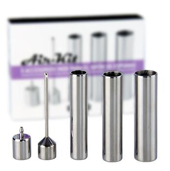 Air Kit Set - 5 nástavců z nerezové oceli, příslušenství pro všechny běžné šlehačkové láhve, 100% Chef, Set
