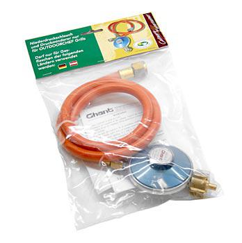 Outdoorchef příslušenství, plynová hadice a regulátor sada, pro plynové grily, 90cm/50mbr, Set