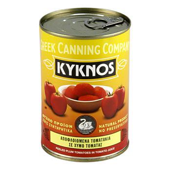 Loupaná rajčata, celá, z Kyknos/Řecko, 400 g
