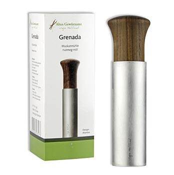 """Ingo Holland Edition - """"Grenada"""" muškátový oříšek struhadlo z nerezové oceli / ořech St"""