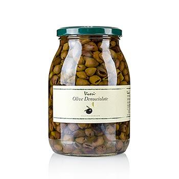 Černé olivy bez pecky, Taggiasca-olivy v oleji & octě, od Viveri, 900 g