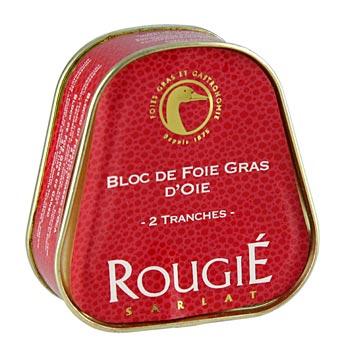 Husí játra blok, lichoběžník, 98% játra foie gras, Rougié, 75 g