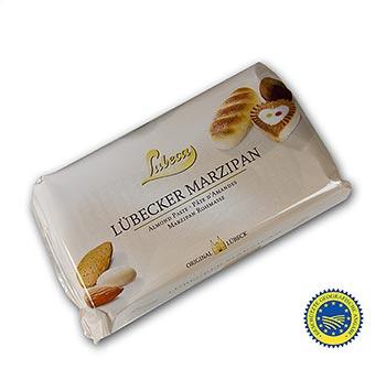 Surový marcipán, MO, MM, 52% středomořské mandle, Lubeca, 1 kg