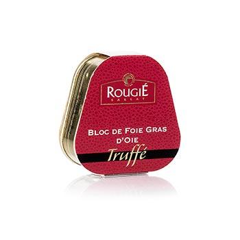 Husí játra blok, s 3% lanýže, lichoběžník, 95% játra foie gras, Rougié (zimní sezóna), 75 g