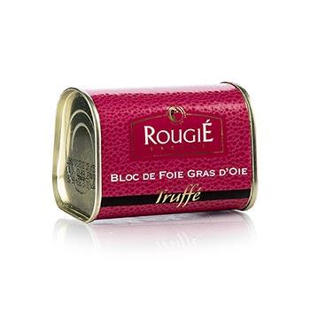 Husí játra blok, s 3% lanýže, lichoběžník, 95% játra foie gras, Rougié (zimní sezóna), 145 g