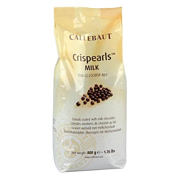 Crispearls křupavé kuličky s jádrem ze sušenek, plnotučné mléko, 30% kakaa, Callebaut, 800 g