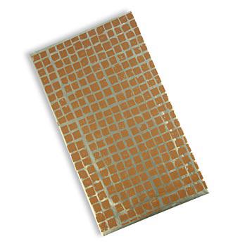 Dekorativní fólie 'kachlíky - mozaika' na čokoládu, 3D-effekt, list 40x23 cm, 25 listů