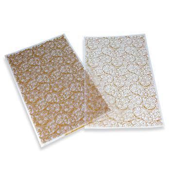 Dekorativní fólie 'arabesky', na čokoládu, list 40x25 cm, 17 listů