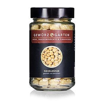 Gewürzgarten, Lískové oříšky, celé, loupané, blanšírované, 125g, sklenice, 125 g