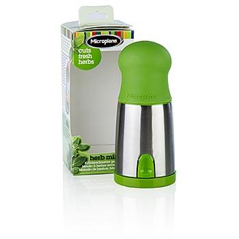 Mlýnek na bylinky, plast/nerez v zelené barvě 1 ks