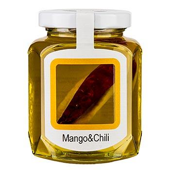 Akátový med se sušeným mangem a chilli 250 g