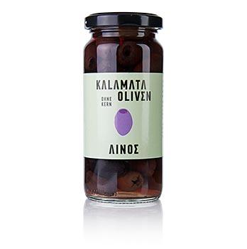 Černé olivy bez pecky, odrůda Kalamata, od Linos, 227g