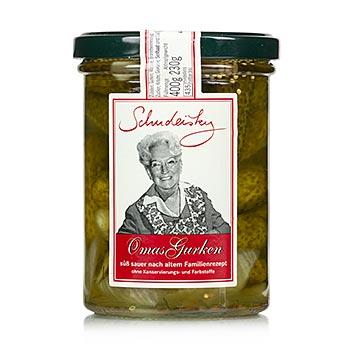 Babiččiny nakládané okurky, sladko-kyselé, 400g