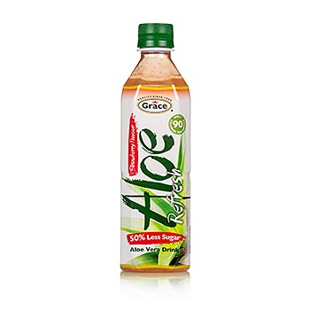 Aloe Vera Drink, Erdbeergeschmack, 500ml, Grace, 500 ml
