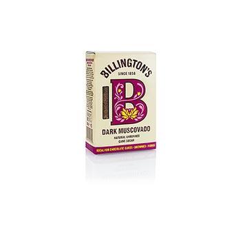 Muscovado, tmavý, třtinový cukr, karamelový a sladový, Billington, 500g